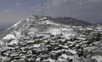 Snow covers the resort town of Murree Pakistan