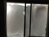 Snow Drift covers entire back door in Connecticut Lots more beautiful photos and videos from the Northeast Blizzard of  inside