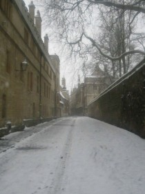 Snow in Oxford UK today