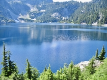 Snow lake Washington USA
