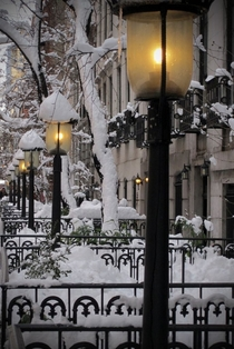 Snow Lanterns West Village New York City