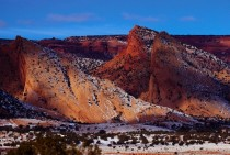 Snow on Sandstone Monocline West of Kayenta Navajo Nation Arizona