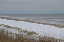 Snow on the beach Outer Banks North Carolina USA