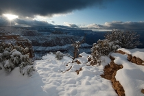 Snow on the Grand Canyon