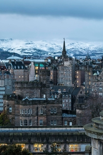 Snow on the Pentlands - Edinburgh Scotland x-post from rpics
