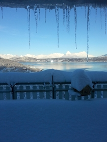 Snow paradise Balsfjord Northern Norway
