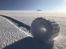 Snow Rollers in Wiltshire Brian Bayliss