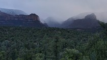 Snow rolling in yesterday evening in Sedona AZ I walked about a quarter mile behind my hotel for this one OC