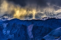 Snow squalls over the Last Chance Mountains in northern Death Valley National Park December