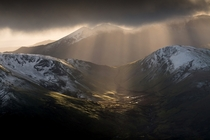 Snowdon at Snowdonia National Park in Gwynedd Wales by Matthew Dartford