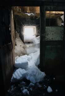 Snowed in Shaft of a mine in Colorado