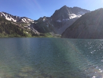 Snowmass Lake in the backcountry of Colorado  I took this photo on a backpacking trip with some friends  x  pixels