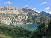 Snowmass lake in the Maroon Bells-Snowmass wilderness area CO