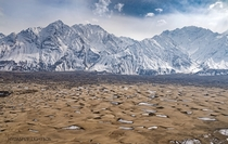 snows in the desert Skardu Pakistan