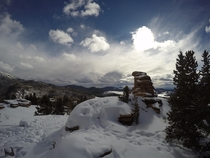 Snowshoed to Pancake Rocks in Pike Forest Colorado