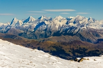 Snowy autumn in the Bernese Alps - taken yesterday on top of La Para - Vaud Switzerland