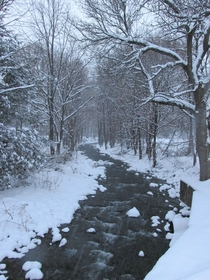 Snowy creek in Upstate NY