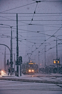 Snowy day in Poznan Poland Picture was taken year ago This winter we havent seen any snow at all