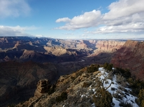 Snowy Grand Canyon Presidents Day weekend x