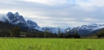 Snowy mountains near Stellenbosch South Africa