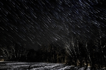 Snowy Star Showers in Manitoba Canada