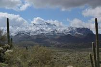 Snowy Superstition Ridgeline - Superstition Wilderness - AZ