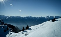Snowy Switzerland mountains during winter
