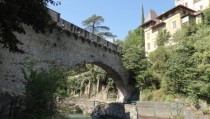 So-called Roman Bridge in Merano Italy - actually an aqueduct and not roman at all px  px OC