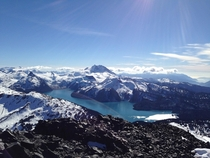 So many California lakes lately how about some love for British Colombia Garibaldi Lake from the top of Black Tusk