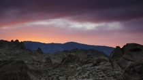So many shots taken from the Alabama Hills solely feature the Eastern Sierra neglecting the Inyo Mountains to the east