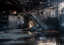 So thats the dead city grunted Bourbon Welcome home Artyom abandoned heavy industry Liege Belgium