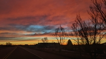 Soaking in one of the joys of nightshift sunrises that light the way home Near Boulder CO