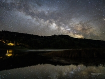 Social distancing at its finest Milky Way reflection Humboldt County Ca