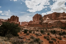 Social distancing made for a quiet day in Arches National Park