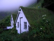 Sod roof houses in Vik Iceland Photo by Gilles Baldet