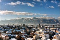 Sofia Bulgaria in winter