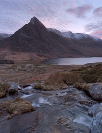 Soft evening light over Tryfan - Snowdonia National Park Wales