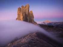 Soft morning in the Dolomites Tre Cime Italy