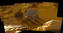 Sojourner rover just after rolling to Mars surface July