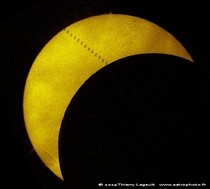 Solar eclipse and transit of ISS    Photographed by Thierry Legault