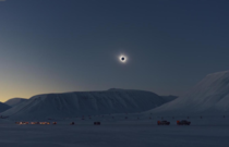Solar eclipse in Arctic Spitsbergen Norway  by Miloslav Druckmller