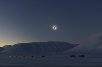 Solar eclipse in the Arctic