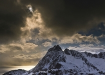 Solar eclipse on the Lofoten islands Norway
