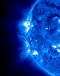 Solar Flare loops stereo