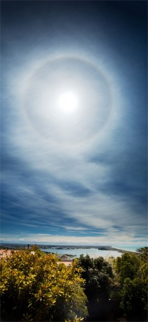 Solar Halo over Christchurch New Zealand