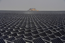 Solar panels in Yinchuan Ningxia Hui China