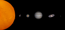 Solar system created from my own image catalogue