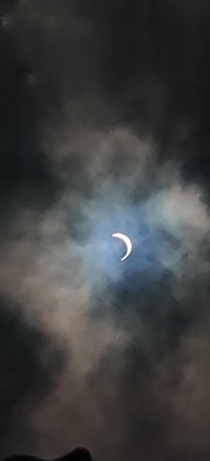 Solareclipse  Delhi picture taken by phone using reflection in water