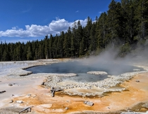 Solitary Geyser in Yellowstone NP