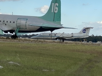 Some abandoned planes outside of a racetrack in Starke FL Thought the NASA plane was neat
